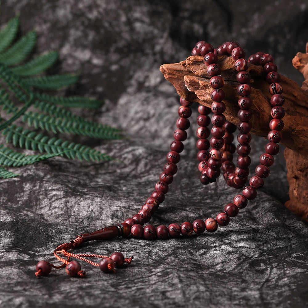 Muslim Timur Tengah Gelang Rumbai Liontin Bentuk 99 Beads Doa Rosario Islam Tasbih Allah Rosario Biji Tasbih Tesbih Tespeeh