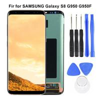 Display S8 Brand New High Quality Original LCD For Samsung Galaxy S8 G950 G950F AMOLED Touch Screen Digitizer Parts With Tools