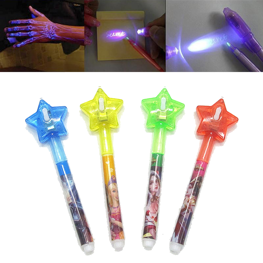 2 In 1 Luminous Light Invisible Ink Pen UV Check Money Light Toy Drawing Secret Magic Star Pens Children Glow In The Dark Toys