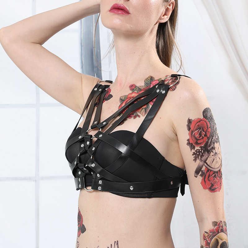 CKMORLS сексуальный готический кожаный ремень безопасности женское тело бондаж бюстгальтер нижнее белье поясные ремни-подтяжки ремни Сексуальное белье Выпускные платья