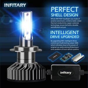 Image 3 - Infitary H4 H7 مصابيح ليد لمصابيح السيارة الأمامية 16000Lm 6500K ZES رقائق السيارات الجليد مصباح للسيارات H1 H3 H11 H13 H27 9005 HB3 HB4 الضباب أضواء