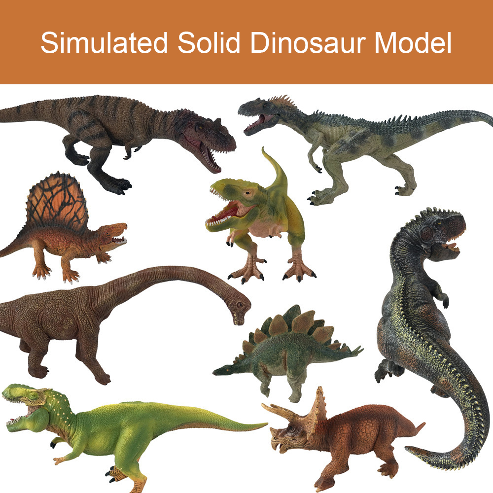 15 Styles Simulated Solid Dinosaur Model Set Dinosaur Toys Tyrannosaurus Pterosaur Tricerosaur Gift For Kids S1043