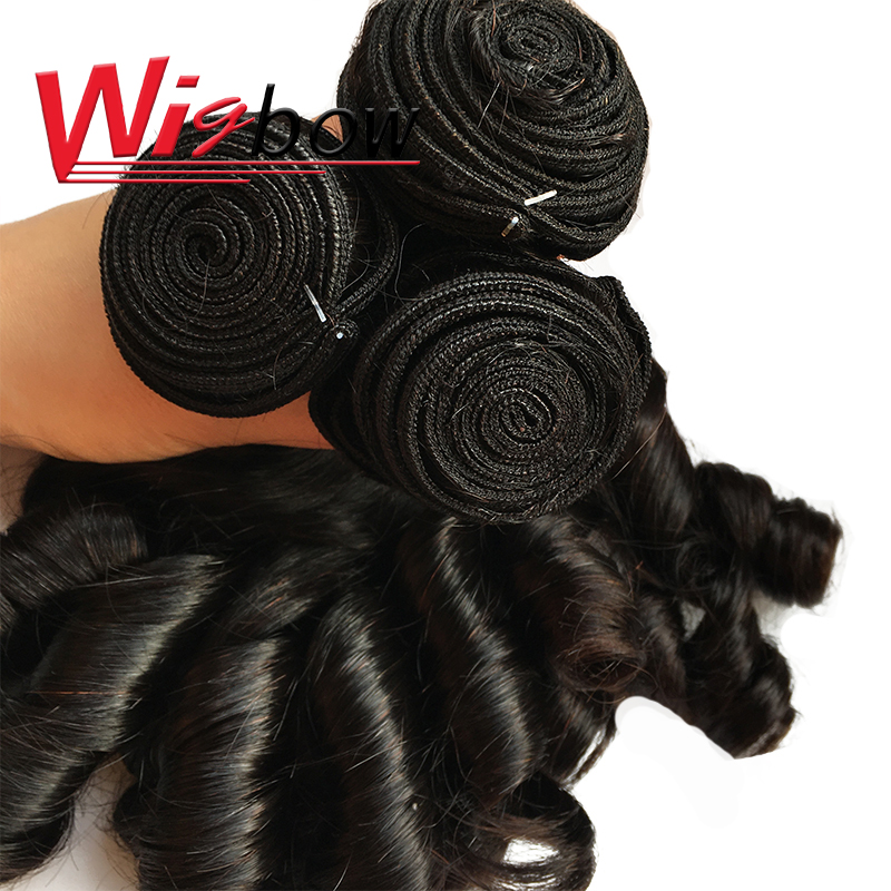 Bouncy Curly Hair Bundles With Closure Double Drawn Hair s  Curly Hair With Middle Part Closure 3