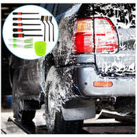 Waxing Sponge Car Detailing Brush Kit Boar Hair Vehicle Auto Engine Wheel Clean Brushes Car Wash Accessories 5