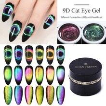 BORN PRETTY 5ml 9D Magnetic Cat Eye Nail Gel Polish Soak Off UV LED Nails Varnish Galaxy Star Magnet Nail Art Manicure Lacquer