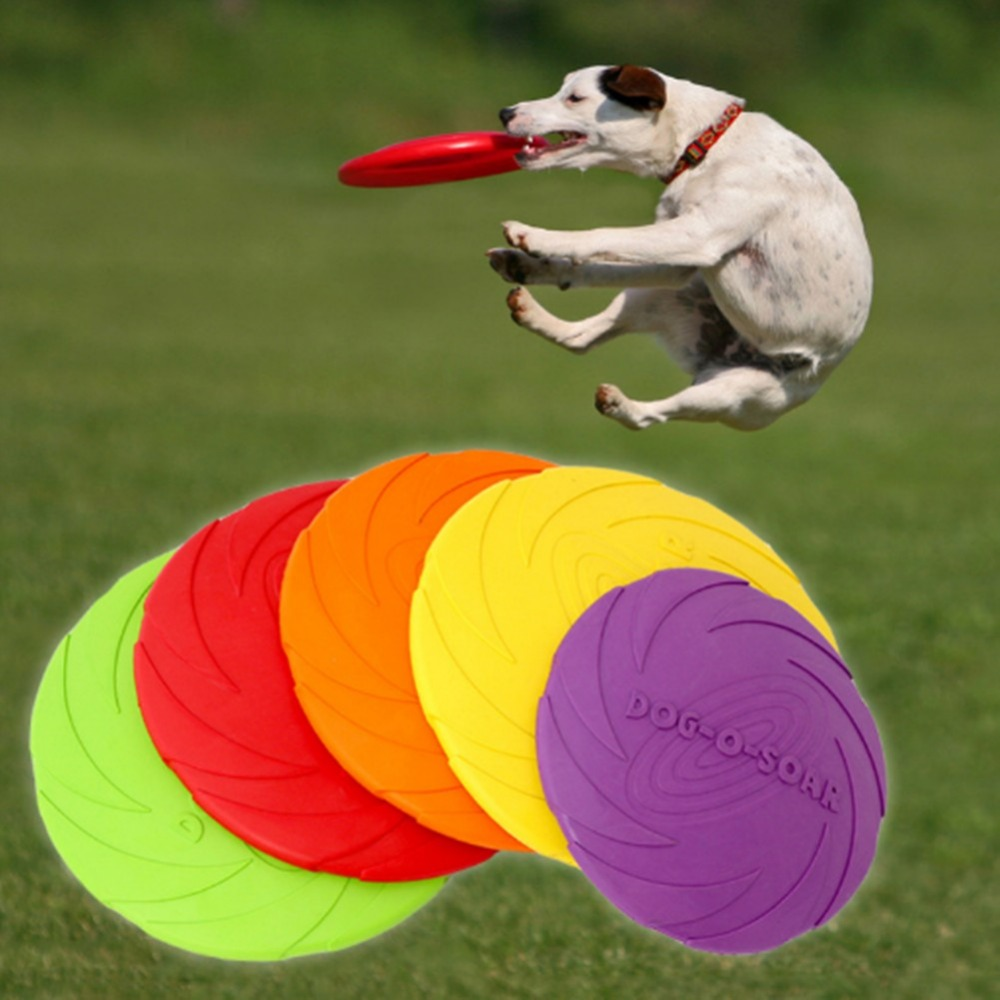 Dog Game Flying Discs Funny Silicone Flying Saucer Dog Cat Toy Resistant Chew Puppy Training Interactive Dog Supplies 1pcs