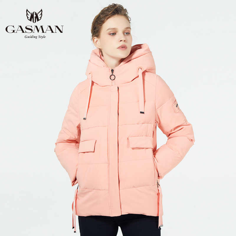 GASMAN/2019 nuevas chaquetas de invierno para mujer Chaqueta corta cálida con capucha abrigo de invierno para niñas parka de mujer de moda