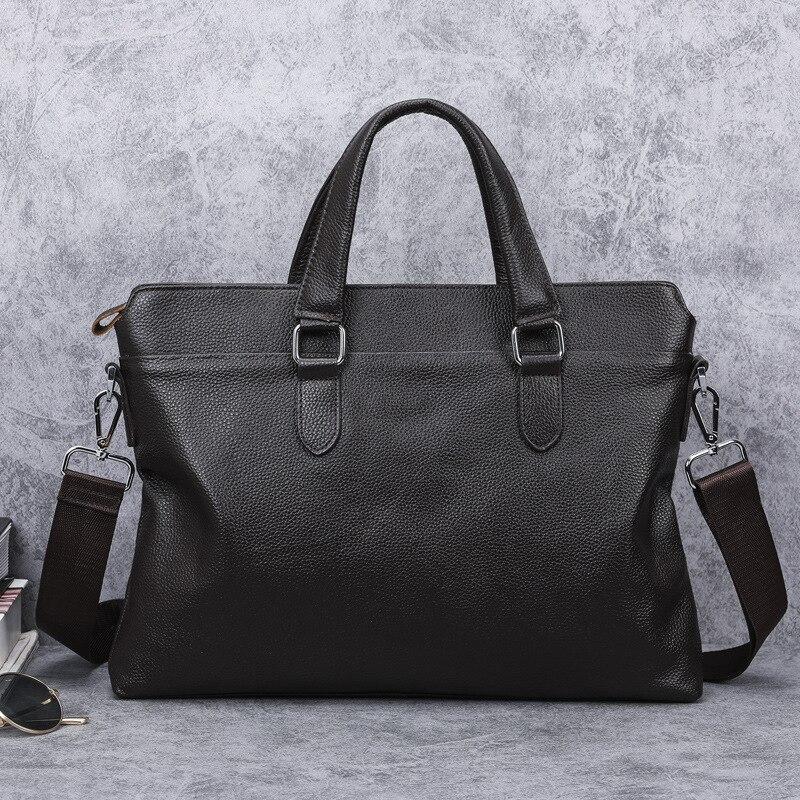 2020 New Fashion Genuine Leather Men's Bag Handbag Brand Business Briefcase Casual Laptop Bags Cowhide Shoulder Messenger Bag