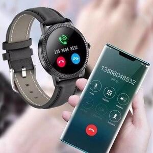 Image 3 - 여자 Smartwatch IP67 방수 시계 혈압 모니터 심장 박동 추적기 스마트 팔찌 삼성 Xiaomi 화웨이 CF18