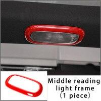Para jeep compass patriot 10-15 moldura de luz de leitura do meio guarnição de moldagem cromo vermelho 1pc