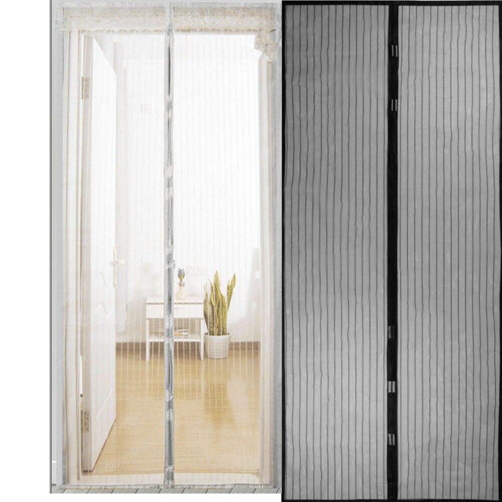 Cortina de cierre automático para puerta, de malla magnética, para veraniego, antimosquitos, insectos y moscas, cortinas para Cocina