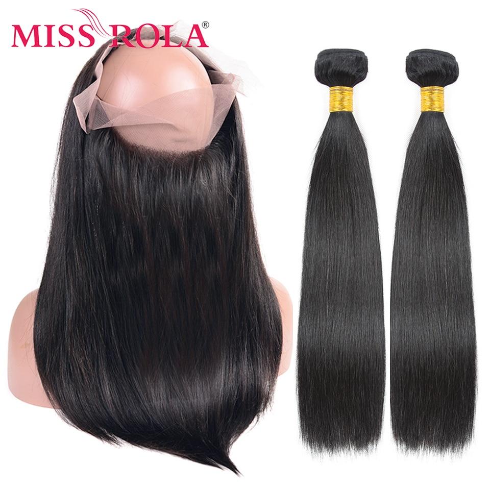 Волосы Miss Rola, бразильские человеческие волосы 360, фронтальные прямые волосы, естественный цвет, 360 фронтальные, среднее соотношение, волосы б...