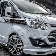 Для 2 шт./пара Ford Transit custom боковые гоночные графические полосы наклейки RS243