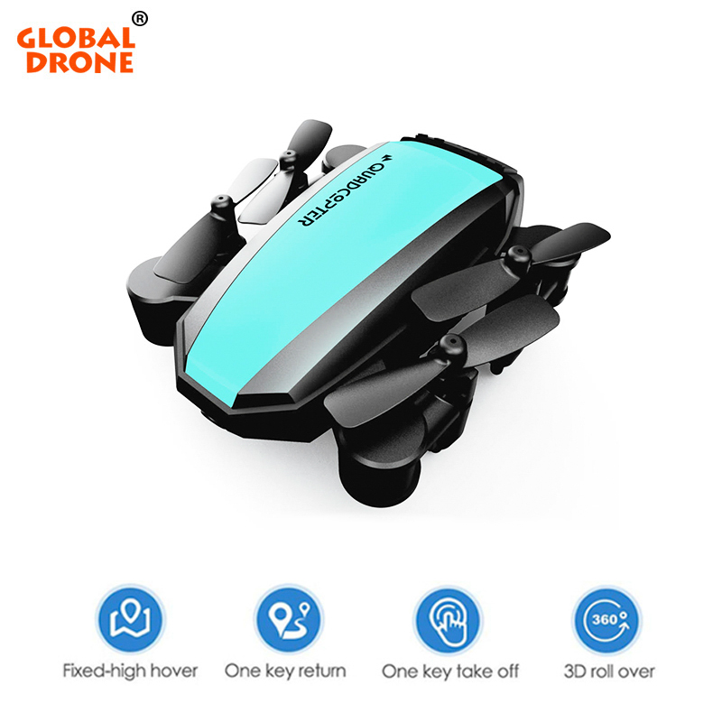 Global Drone GW125 Mini Dron Folding Radio controlled Helicopter Altitude Hold Drones RC Small Quadrocopter Toys for Kids VS S9W RC Helicopters     - title=