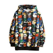 Moda bluza 3D drukowane bluza z kapturem męska odzież uliczna Harajuku bluza z kapturem bluza z kapturem z motywem kreskówkowym i bluza tanie tanio Pełna REGULAR NW194 Mężczyźni Na co dzień STANDARD Bluzy NONE Brak Poliester red purple black