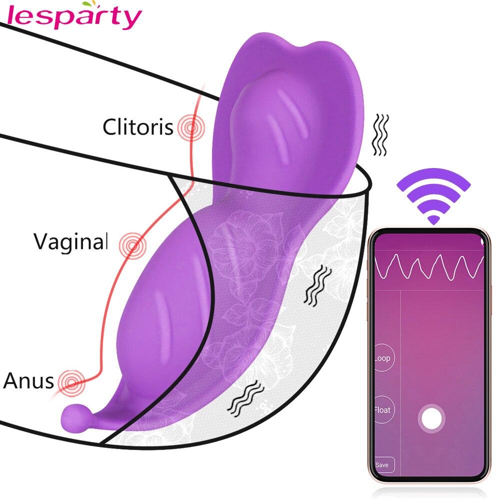 Vibrador de vibrador de vibração de controle remoto sem fio do vibrador do vibrador da borboleta do bluetooth para o sexo do casal