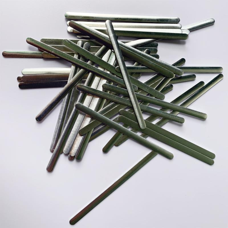 100 Pieces Bendable Glue Metal Flat Aluminum Twist Nose Bridge Wire Clips Ties For Diy Making Crafts
