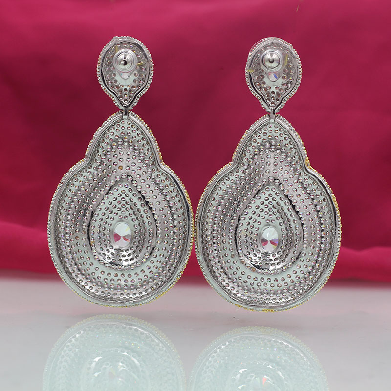Wick dolia earrings female party swingable earrings zircon beautiful earrings wedding jewelry ladies tassel rose gold earrings b in Drop Earrings from Jewelry Accessories