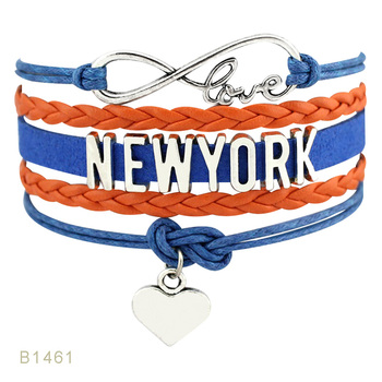 New York Illinois Georgia Kentucky Tennessee North Carolina Florida Michigan Minnesota Texas Ohio State Mens Bracelets for Women image