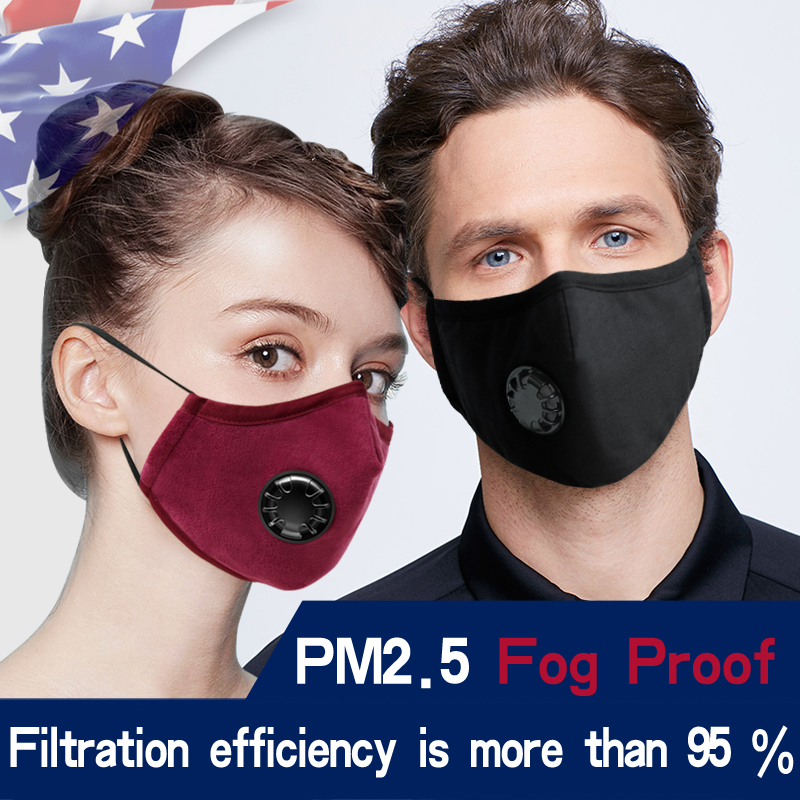PM2 5 Reusable Face Mask Adjustable with Filters Filterability Carbon Filter Bike cycling Face Masks Facemask Innrech Market.com