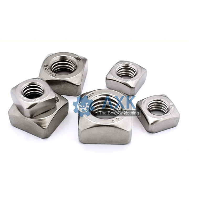 50Pcs DIN557 GB39 M3 M4 M5 M6 M8 304 Stainless Steel Square Nuts