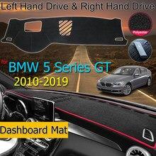 Для BMW 5 серии GT F07 2010 ~ 2019 анти-скольжения Анти-УФ коврик приборной панели крышки Панель Dashmat защиты ковровых покрытий аксессуары 528i 535i 550i