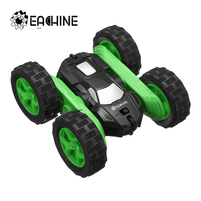 Eachine EC02 RC Car 2.4G 4WD Stunt Drift Deformation Buggy Roll Car 360 Degree Flip Robot Vehicle Models High Speed Rock Crawler title=