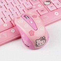 Śliczne Kitty 1200dpi 2.4G 10 miernik bezprzewodowa mysz optyczna mysz do laptopa