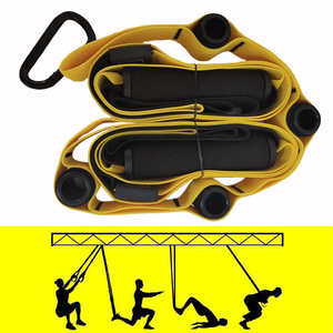 Rooxin Resistance Bands Set Hanging Belt for Training Yoga Stretch Strap Pull Rope Fitness Bands Exercise at Home Gyms Workout