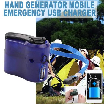 Mobile Phone Emergency Power USB Hand Crank Charger Electric Generator Universal Mobile Charge Hand Dynamo Charging portable wind power generator set turbine motor alternator self generation emergency phone charger lb88