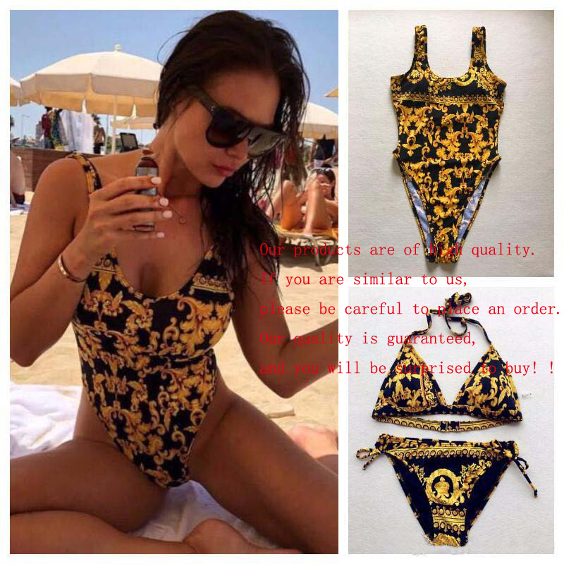 Fashion Luxury Designer Women Beach One Set Bikini Underwear Swimwear Women Swimsuit Sexy Bathing Suits Sexy Two-piece Swimsuits