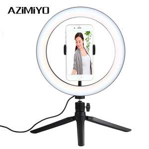Azimiyo Ring-Light Phone-Ring Dimmable-Camera Youtube Selfie LED for Video-Live Lamp