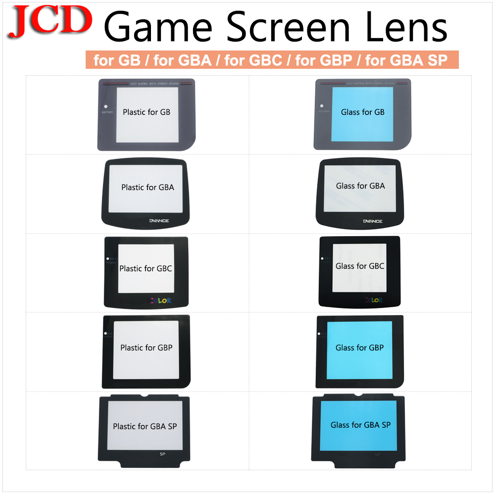 JCD For GBC For GBA For GB DMG Screen Plastic Display For GameBoy Advance Color Protector Lens For Nintendo For Gameboy Advance