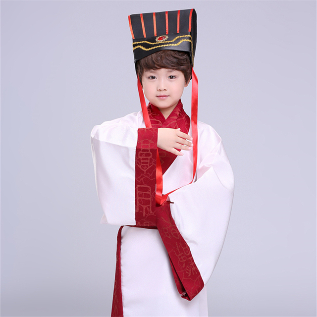 7Color Kids Chinese Ancient Costume Traditional Dynasty Official Stage Performance Party Clothing Folk Dance Hanfu Costumes Set 4
