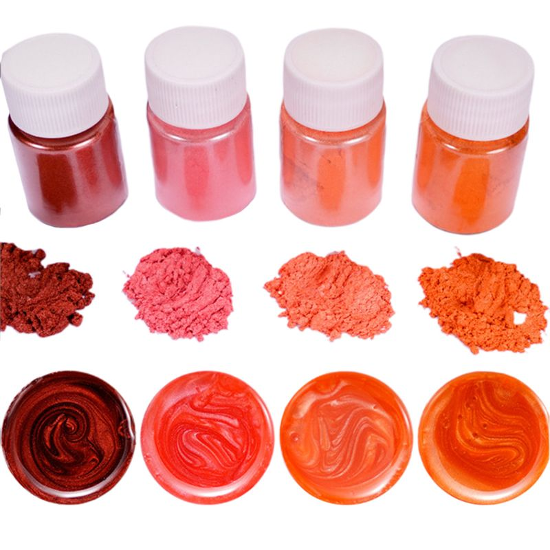 4 Pcs/set Mixed Color Resin Jewelry DIY Making  Glowing Powder Luminous Pigment Set Crystal Epoxy Material