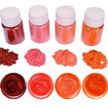 4 шт/компл набор разноцветных блестящих пигментов из эпоксидной