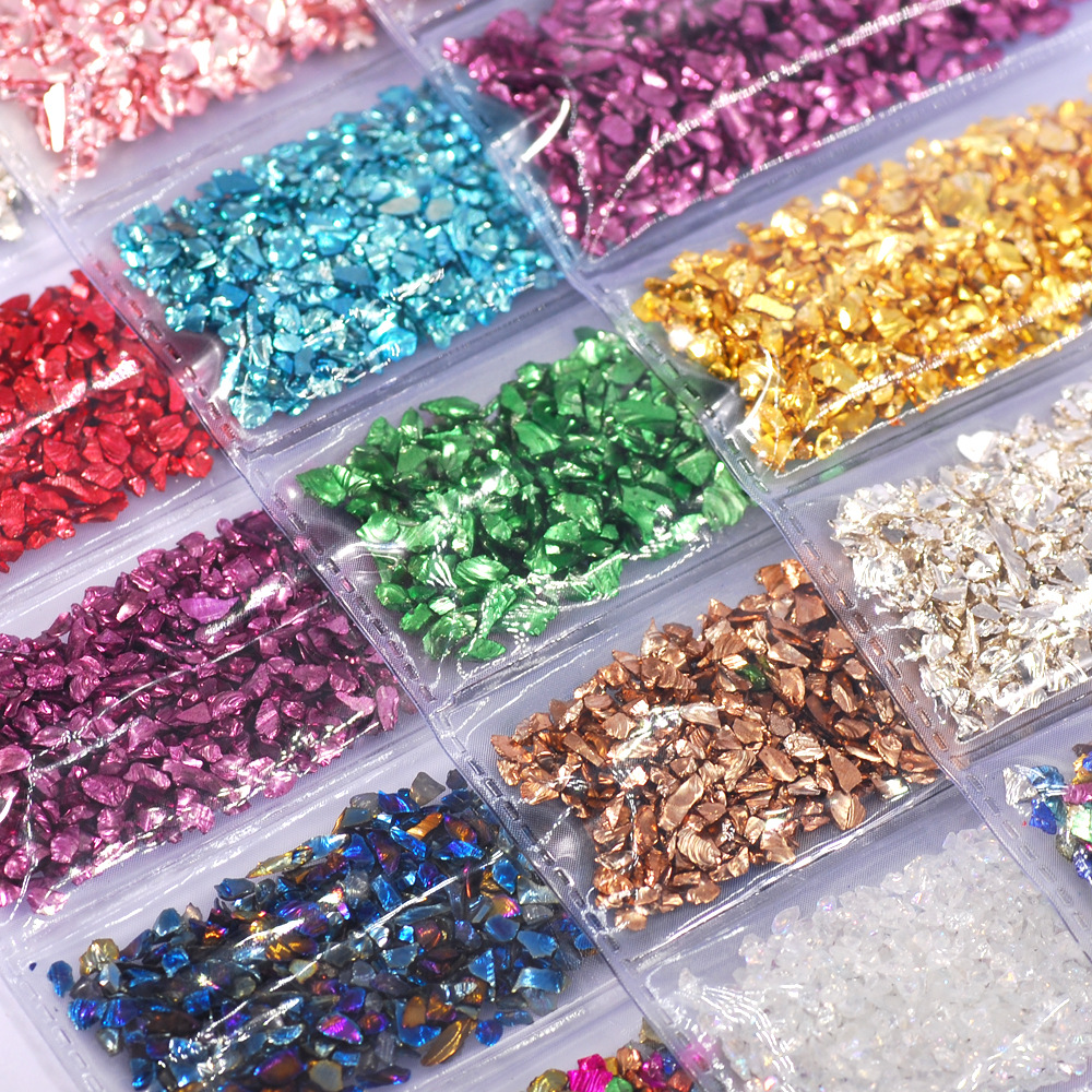 Multi Color Mixing Broken Glass Stones Mold Fillings for Resin Filler Diy Crafts Nail Art Decorations Jewelry Making