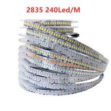 5v 12v 24 v conduziu a tira clara da lâmpada da fita da tira para o quarto da sala 5v 12v 24 v o volt conduziu a luz de tira do pc smd 2835 ledstrip branco