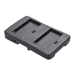 Image 4 - F2 BP NP F batterie à v mount batterie convertisseur adaptateur plaque Fit F970 F750 F550 pour Canon 5D2 5D3 DSLR caméra lumière LED moniteur