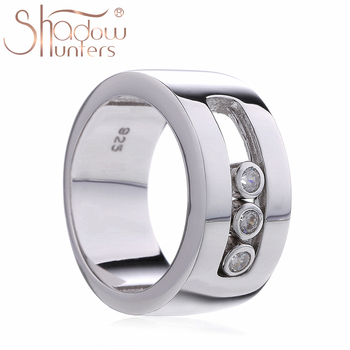 SHADOWHUNTERS Original 925 Sterling Silver Move Stone Wedding Rings For Men Engagement Sterling Silver Jewelry