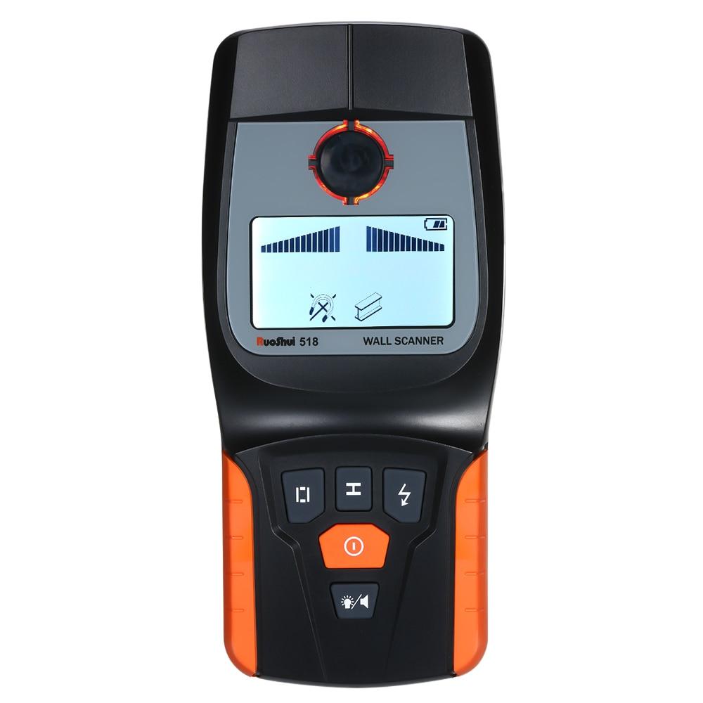 RuoShui détecteur de métaux multi-fonction numérique détecteur de métaux détecteur de métaux avec grand Scanner de fil LCD
