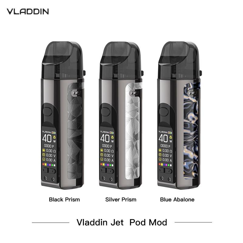Original Vladdin Jet Pod Mod Vape Kit With 4.5 Ml Capacity 1500 MAh Battery Electronic Cigarette Kits VS Vinci X Vape Kit
