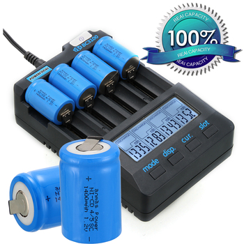High Quantity 1400mAh NICD 1.2V Battery 36g 4/5 Sub C SC 1.2 V Rechargeable Battery with Tab - Blue image