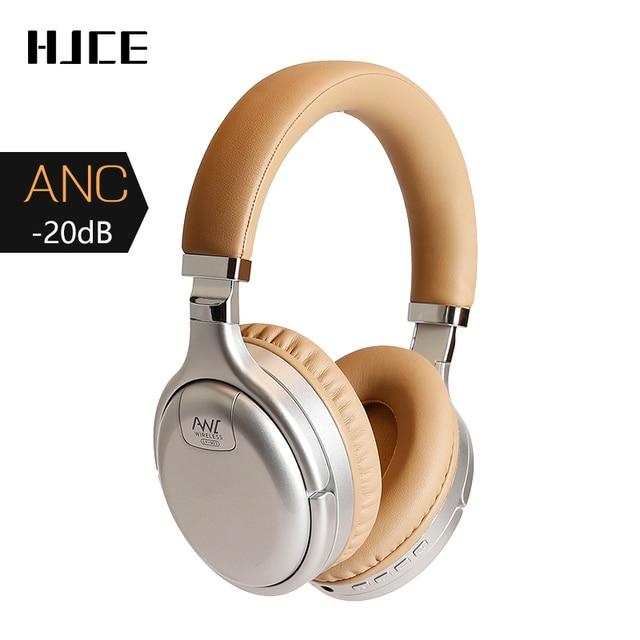 Anc bluetooth fone de ouvido com cancelamento de ruído ativo sem fio & com fio fone de ouvido com microfone fone graves profundos alta fidelidade som