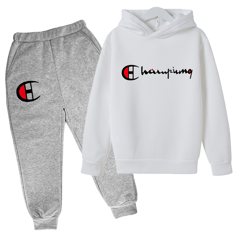 Children's Clothing Spring Boys and Girls Pullover Cotton Sports Suit Hoodie + Casual Pants 2-piece Clothing Sportswear