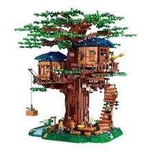 アイデアツリーハウスモデル葉2色互換ビルディング · ブロックレンガ21318キッズ教育玩具chirstmasのギフト