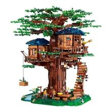 أفكار بيت شجرة نموذج يترك لونين متوافق اللبنات الطوب 21318 أطفال لعبة تعليمية عيد الميلاد هدية