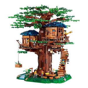 Image 1 - רעיונות עץ בית דגם עלים שני צבעים תואם בניין בלוקים לבני 21318 ילדים חינוכיים צעצוע Chirstmas מתנה