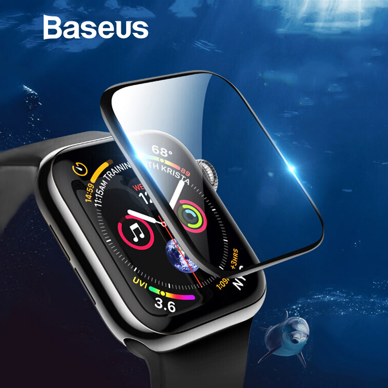 Baseus 0.2mm Screen Protector Clear Full Coverage Protective Film For Apple Watch 1 2 3 38mm 42mm For Apple Watch 4 5 40mm 44mm