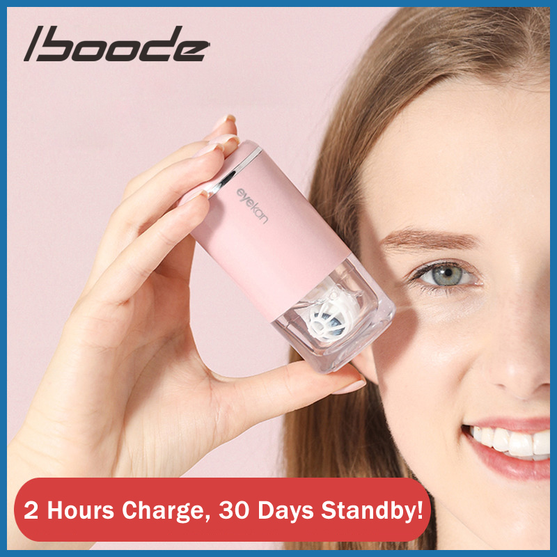 Iboode Portable Eye Contact Lenses Washer Cleaner Cute Candy Color Colored Contact Lens Ultrasonic Automatic Cleaner Case Bottle